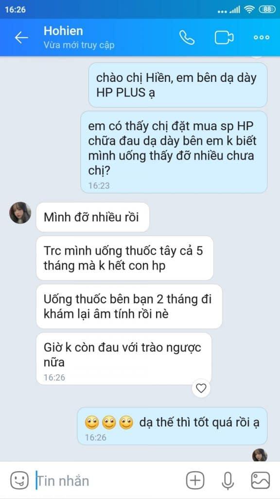 chi hien uong da day hp plus het hp