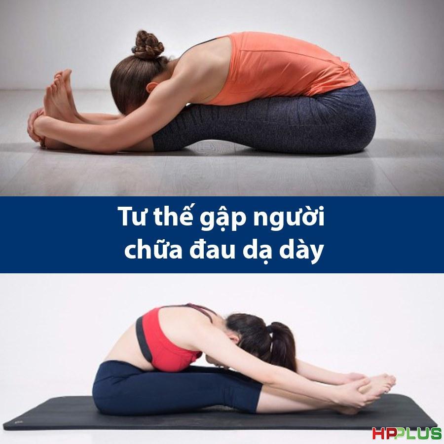Tư thế gập người Yoga chữa đau dạ dày