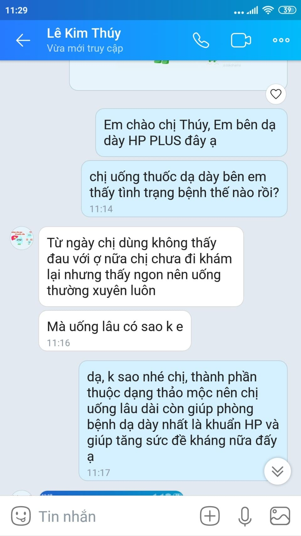 le kim thuy su dung da day hp plus