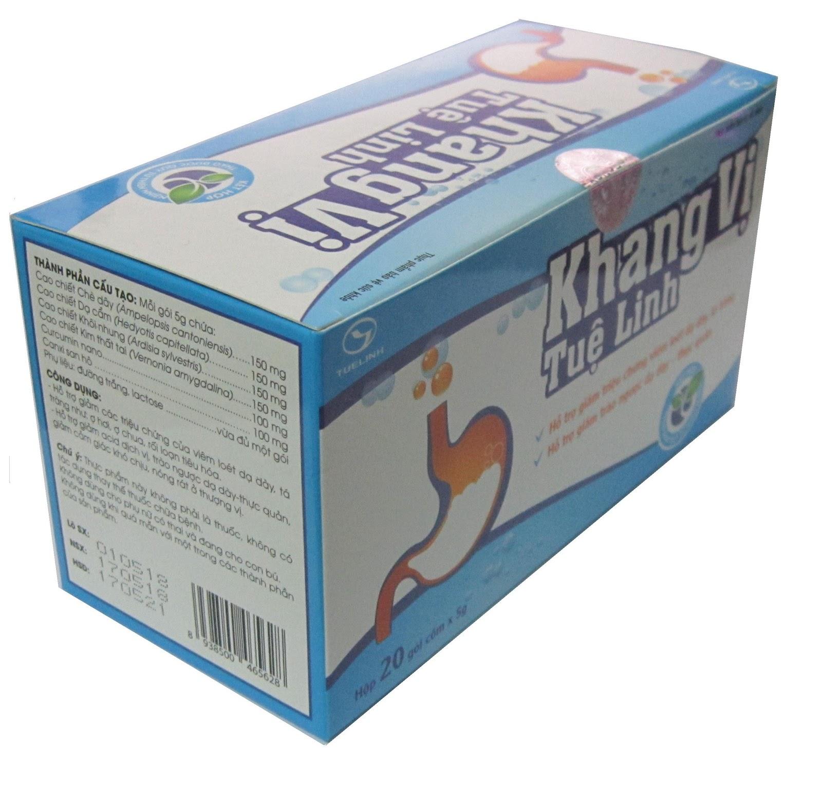 Khang Vị TUỆ LINH - Giảm viêm loét, trào ngược dạ dày (Hộp 20 gói ...
