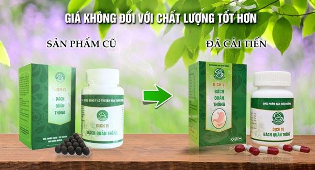 Viên uống Dịch vị bách quản thống hỗ trợ điều trị đau dạ dày, viêm ...